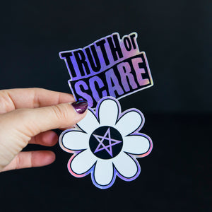Truth or Scare Holographic Stickers - Choose One or All Three