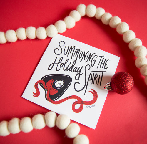 Summoning the Holiday Spirit Greeting Card