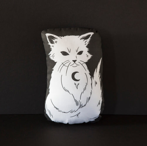 Spirit - Familiars White Cat Mini Pillow