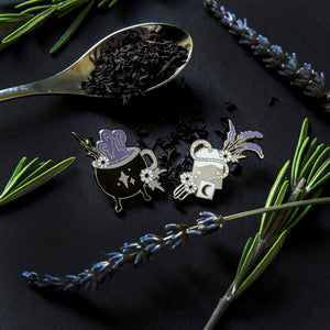 Witch's Brew Tea Set - One Pair of Enamel Pins