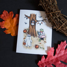Load image into Gallery viewer, Woodland Halloween Greeting Card