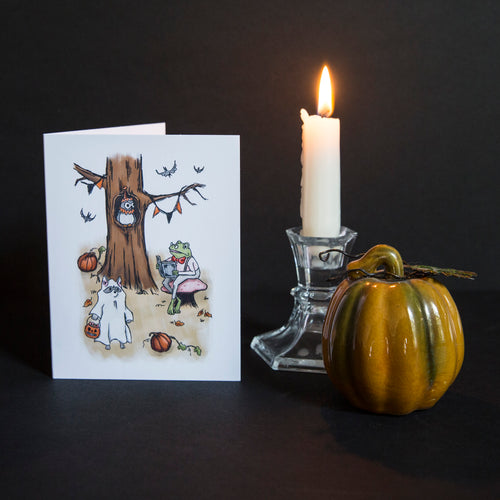 Woodland Halloween Greeting Card