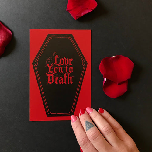 Love You To Death - Valentine's Flat Postcard