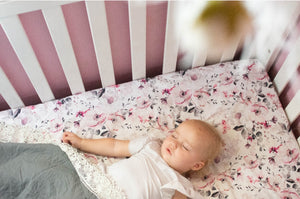 Cherry Plum Fitted Cot Sheet/Crib Sheet