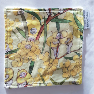 May Gibbs Gumnut Baby Yellow Wash Cloth