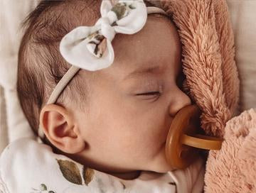 Natural Rubber Soother Dummy Pacifier | Round Twin Pack