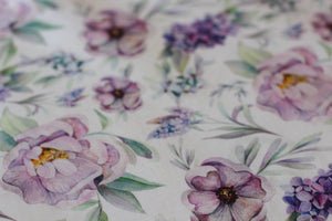 Violet Peony Fitted Cot Sheet/Crib Sheet