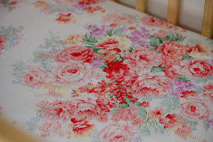 Coral Peony Fitted Cot Sheet/Crib Sheet
