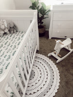 Silver Gum Leaf Fitted Cot Sheet/Crib Sheet