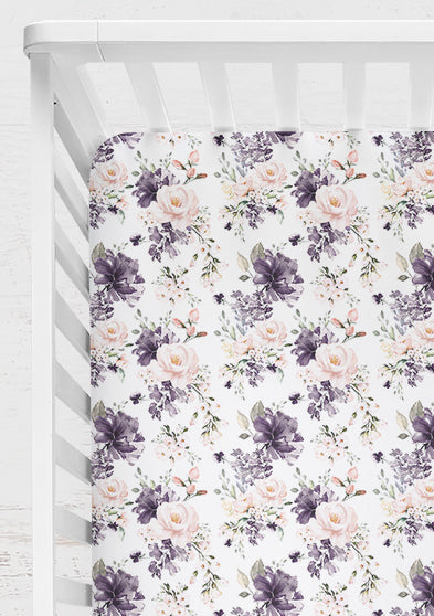 Lilac Whisper Fitted Cot Sheet/Crib Sheet