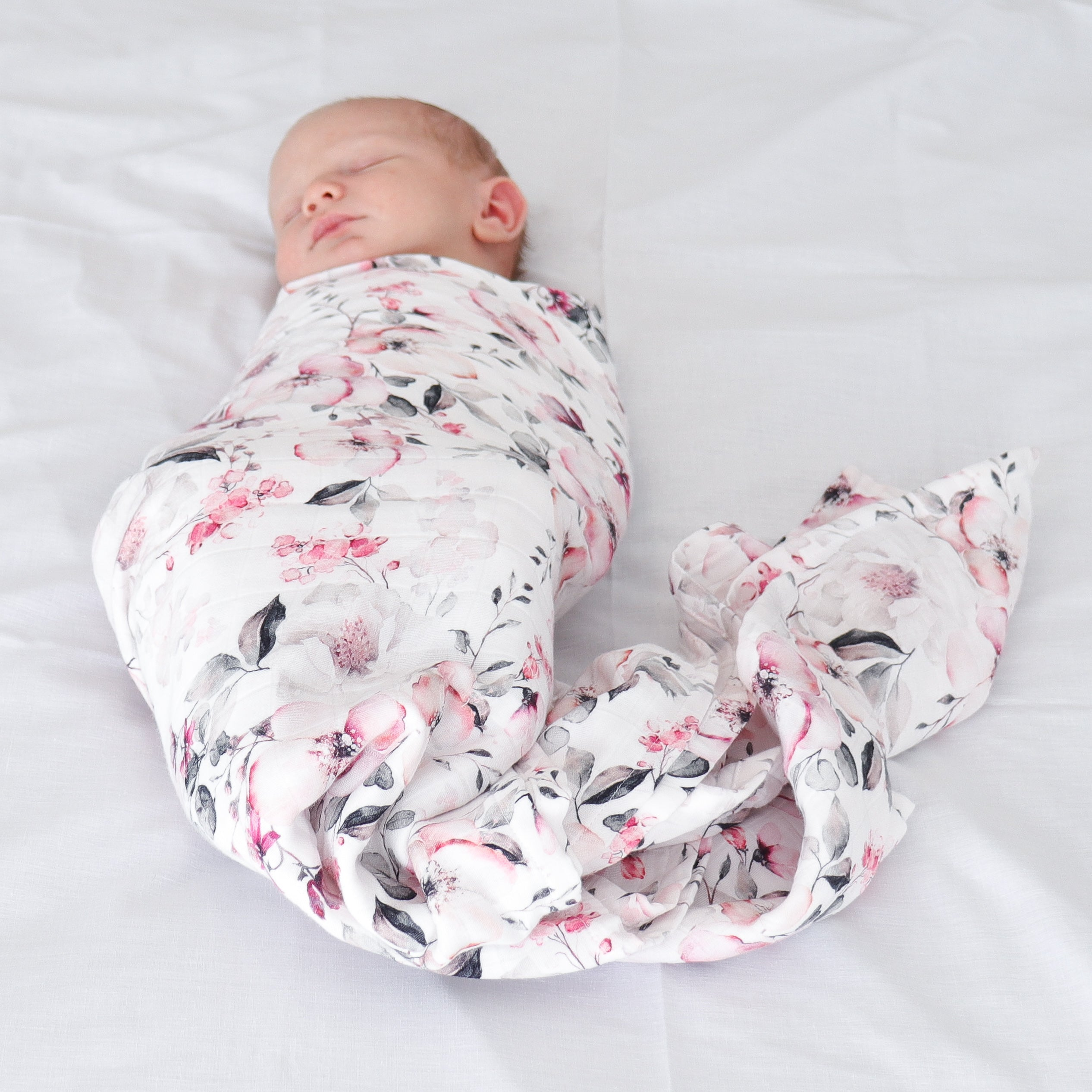 Cherry Plum Checked Double Cotton Muslin Swaddle Wrap