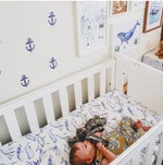 Ocean Lullaby Fitted Cot Sheet/Crib Sheet