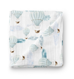 Floating Dreams Checked Double Cotton Muslin Swaddle Wrap