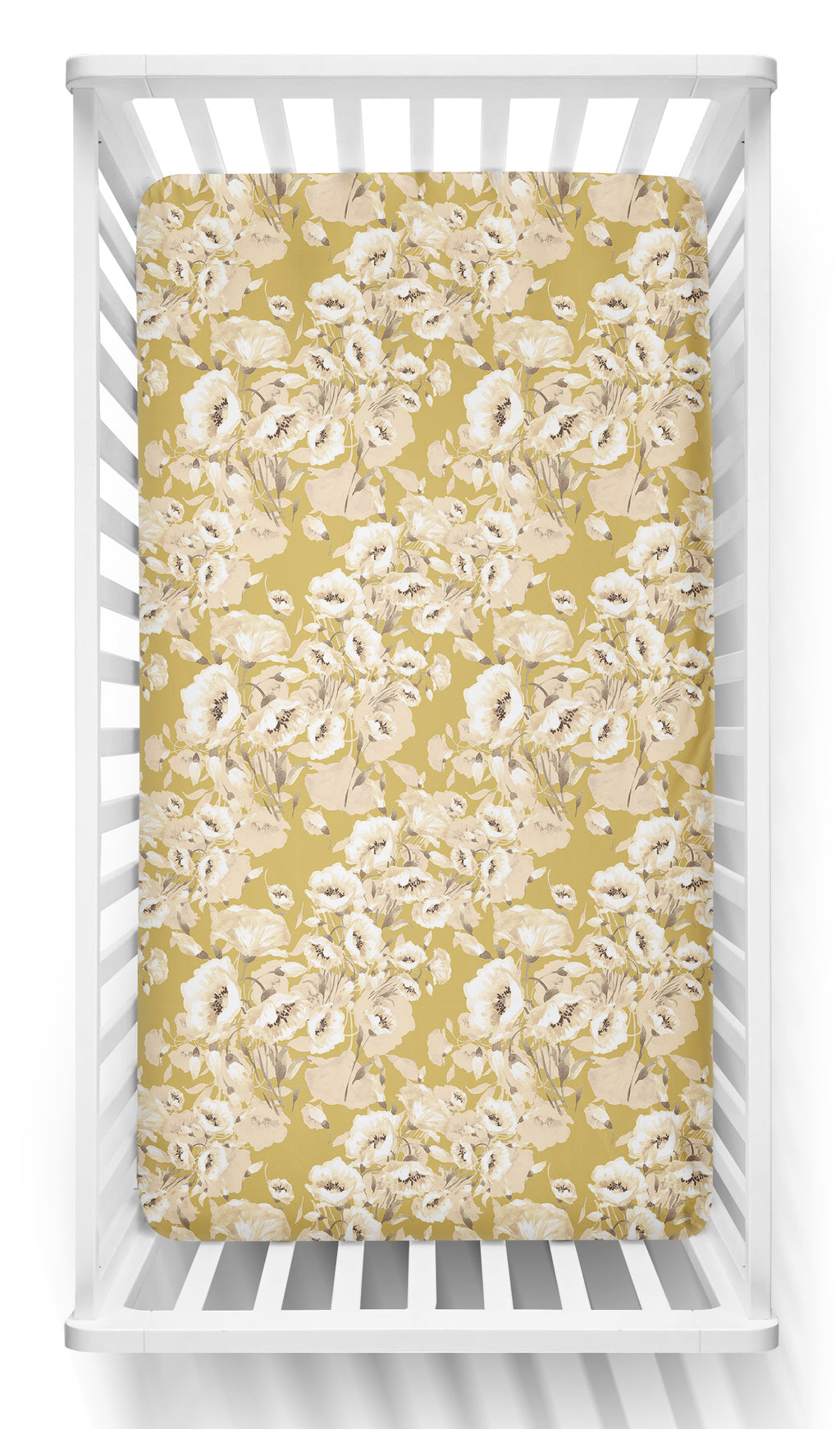 Golden Poppy Cot Sheet Fitted/Crib Sheet