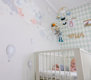 Floating Dreams Fitted Cot Sheet/Crib Sheet