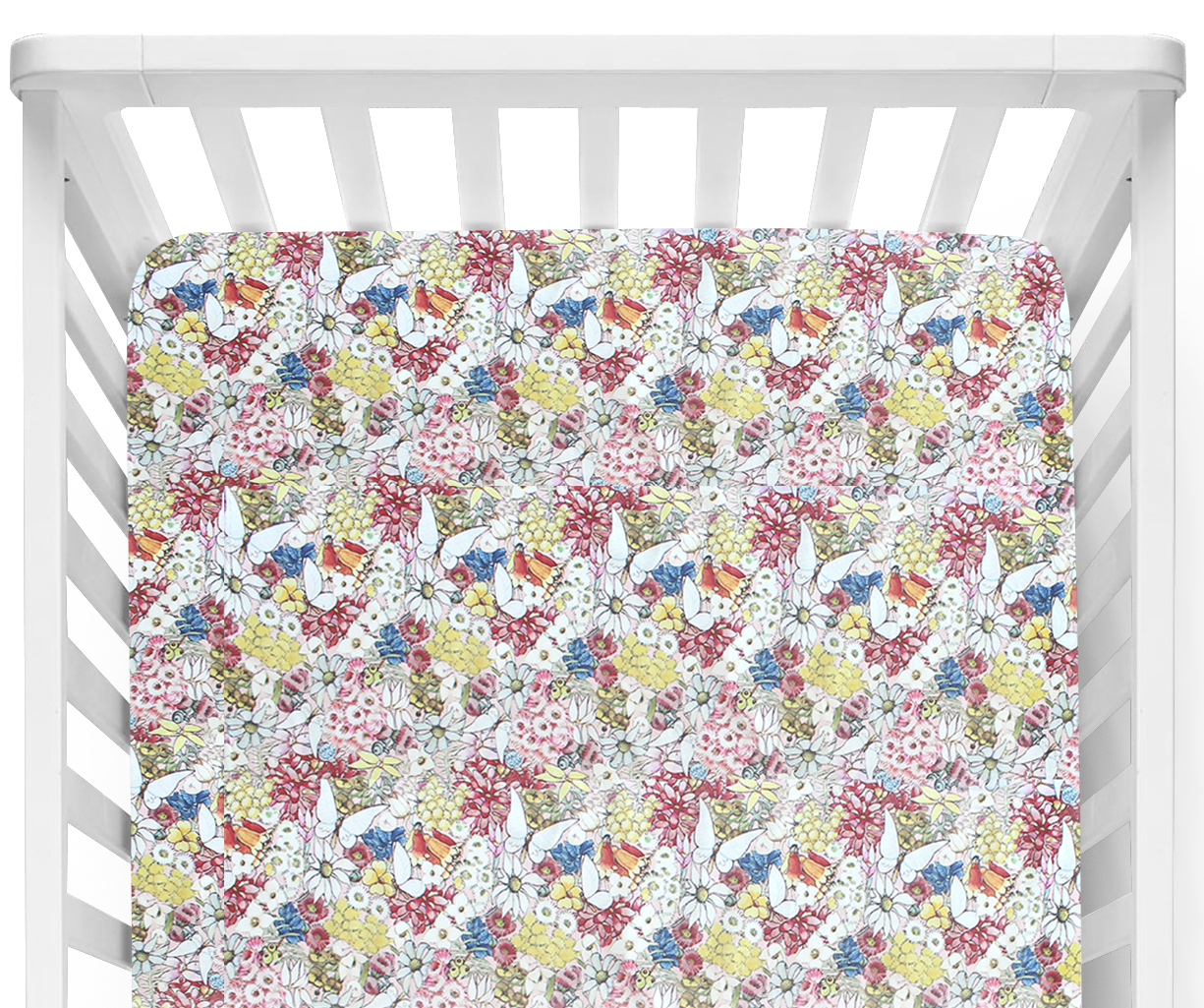 May Gibbs Garden Fitted Cot Sheet/Crib Sheet