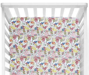 May Gibbs Garden Red Fitted Cot Sheet/Crib Sheet