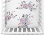 Twilight Blooms Fitted Bassinet Sheet/Change Mat Cover