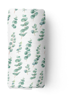 Silver Gum Leaf Checked Double Bamboo/Cotton Muslin Swaddle Wrap
