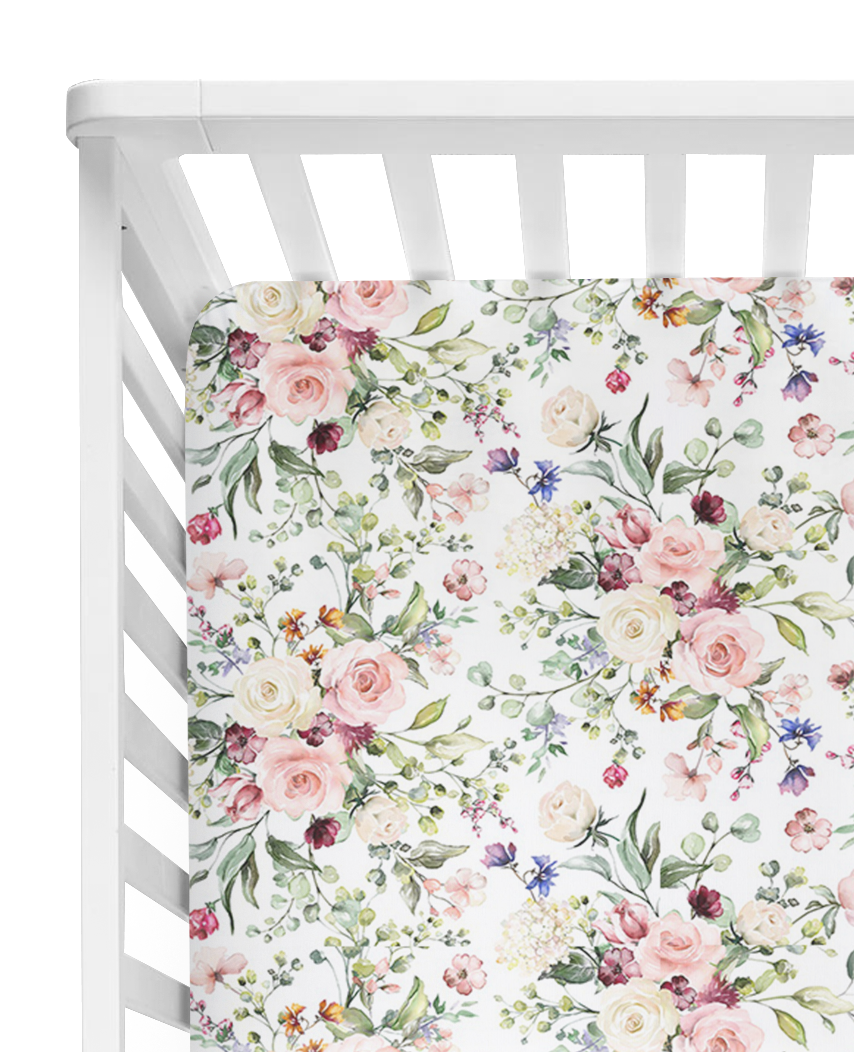 Spring Blossom Fitted Cot Sheet/Crib Sheet