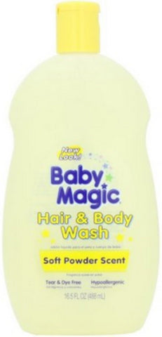 Baby Magic Hair & Body Wash, Soft Baby Scent 16.5 oz (Pack of 3)