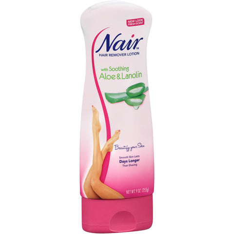 Nair with Soothing Aloe & Lanolin Hair Remover Lotion 9 oz