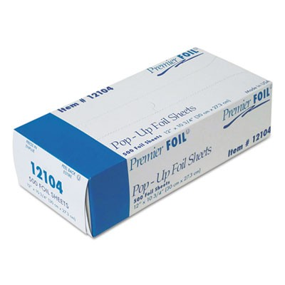 "12104 Silver 12"" x 10 3/4"" Inter folded Foil Sheets"