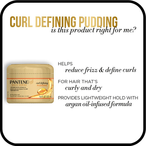 Pantene Pro-V Gold Series Curl Defining Pudding Cream, 7.6 fl oz