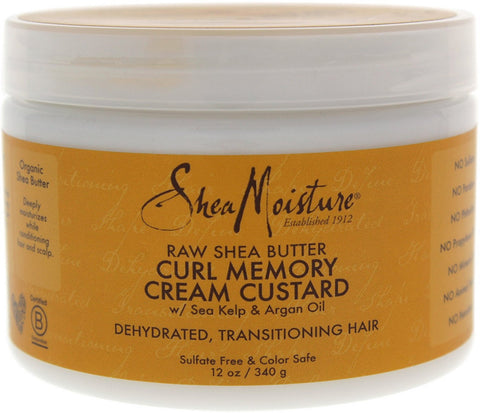 2 Pack - Shea Moisture Raw Shea Butter Curl Memory Cream Custard 12 oz