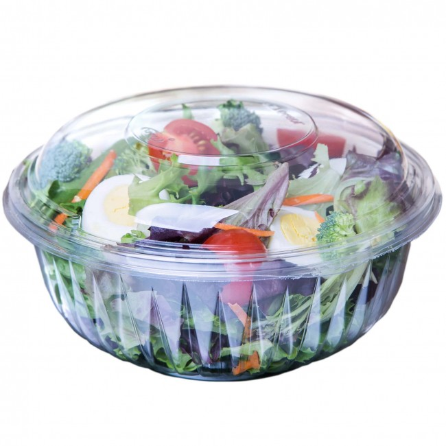 Clear 32oz Plastic Bowl Combo (150 per pack)