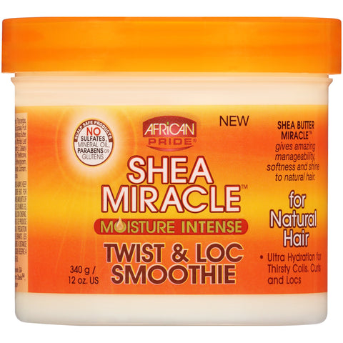 (2 Pack) African Pride Shea Miracle Moisture Intense Twist & Loc Smoothie 12 oz. Jar