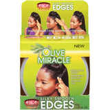 African Pride Olive Miracle Silky Smooth Edges Hair Gel, 2.25 oz