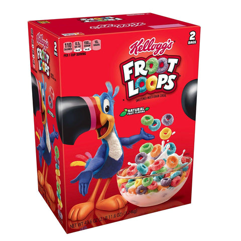 Kellogg's Froot Loops Cereal (43.6 oz.) - 2 bags - starting at $12.06