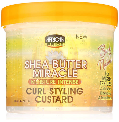 African Pride Shea Butter Miracle Curl Custard Styling, 12 Ounce