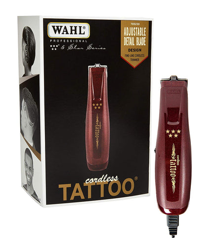 Wahl Professional 5-Star Cordless Tattoo Trimmer #8491 – Great for Barbers and Stylists – Features Zero-Overlap Blades, Rotary Motor, and 60 Minute Run Time – Create Any Hair Style with Ease