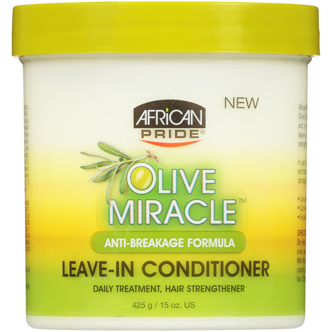 African Pride Olive Miracle Anti-Breakage Formula Leave-In Conditioner,15 oz