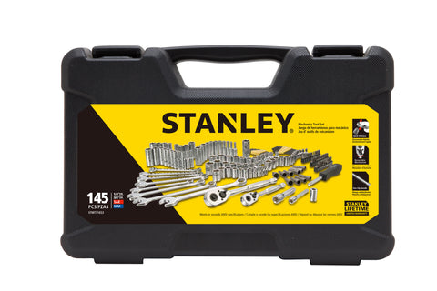 STANLEY 145-Piece Mechanics Tool Set, Chrome