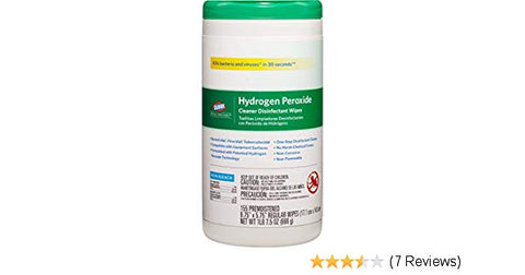 Clorox Healthcare® Hydrogen Peroxide Disinfectant Wipes - 155 Wipe Canister Size (6 per case)