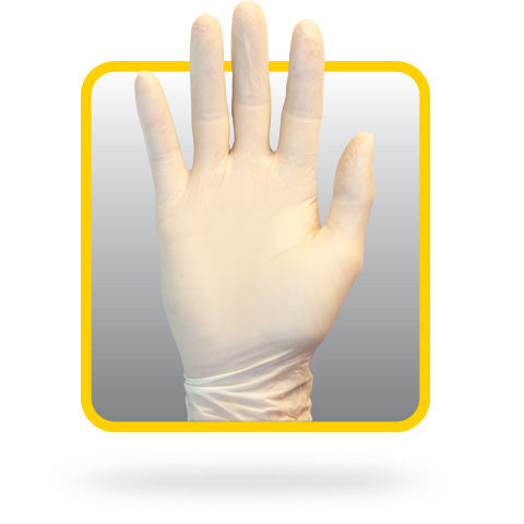 The Safety Zone® Natural Large Powdered Latex Medical Grade Exam Gloves