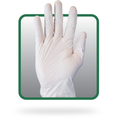 The Safety Zone® White Medium Powder-Free Vinyl General Purpose Gloves (100 per box)