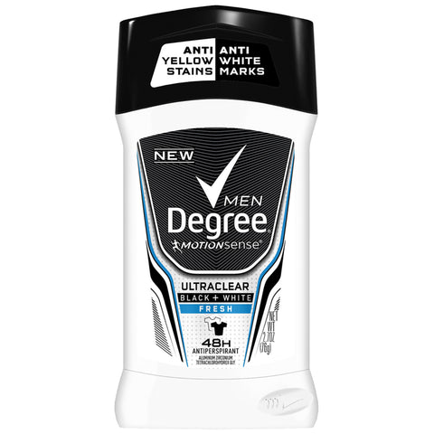 Degree Men UltraClear Black+White Fresh Antiperspirant Deodorant, 2.7 oz