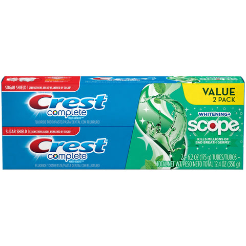 Crest Complete Whitening + Scope Toothpaste (Pack of 2)