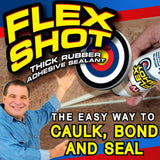 Flex Shot Rubber Adhesive Sealant, White, 8 Oz