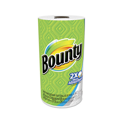 "P&G Bounty® White 11"" x 10.4"" Perforated 2-Pl y Paper Roll Towels (30 per case)"