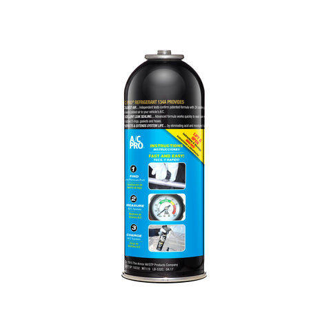 A/C Pro High Mileage Auto Air Conditioner Refrigerant, 134A, 12oz