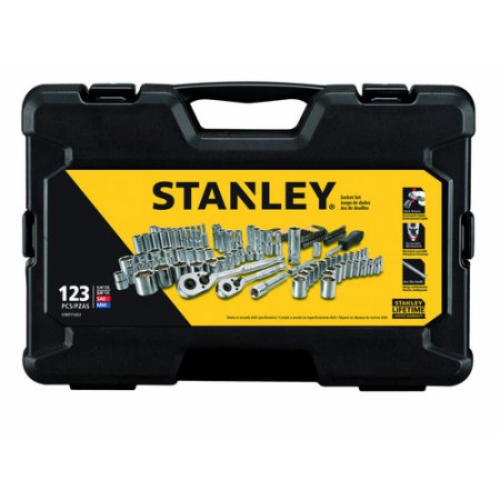 STANLEY 123-Piece Mechanics Tool Set, Chrome