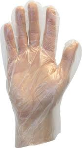The Safety Zone® Clear Large Powder Free High-Density Poly Gloves (1000 per pack)