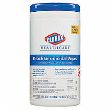 Clorox® Healthcare® Bleach-Based Germicidal Wipes - 70 Wipe Canister Size (6 per case)