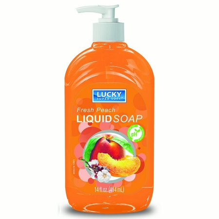 Liquid Soap Clear Peach 14oz.