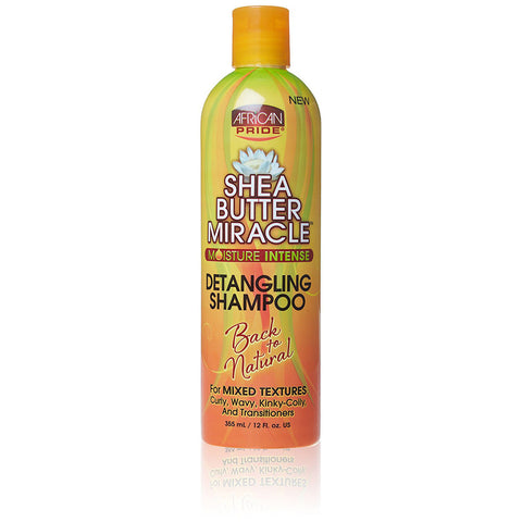 [AFRICAN PRIDE] SHEA BUTTER MIRACLE SULFATE-FREE DETANGLING SHAMPOO 12OZ